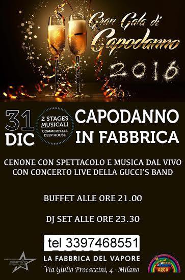 Capodanno evento esclusivo in Fabbrica 2016